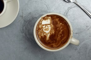 Votre portrait dans une tasse de caf